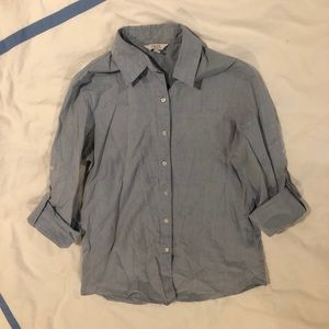 Chambray Blue Button Down Shirt, Pure Alfred Sung